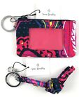 VERA BRADLEY ZIP ID CASE AND LANYARD  *NEW WITH TAGS* *MANY PATTERNS*