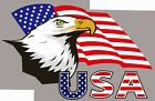 USA EAGLE FLAG STICKER IRON ON HEAT TRANSFER T SHIRT PERSONALIZE LOT Wholesale image