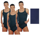 CRT. 3x Tank Top Man Shoulder narrow in 100% Cotton rib. 1312 Made in Italy