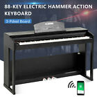 88 Key LCD Electric Digital Piano Hammer Action Keyboard w/Pedal+Cover +Stand <br/> USB/MIDI Terminal✔Recording✔Playback✔Appealing tone✔
