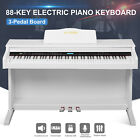 88 Key LCD Electric Digital Piano Hammer Action Keyboard w/Pedal+Cover +Stand
