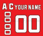 New Jersey Devils Customized Number Kit for 1992-Present Red Jersey $34.99 USD on eBay