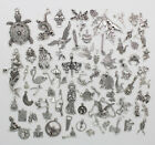 Antique Silver Jewelry Finding Charms Pendants Carfts DIY Accs 77 Styles