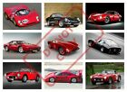 CLASSIC FERRARI SPORTS CARS POSTER PRINT COLLAGE WALL ART (cf1) - VARIOUS SIZES