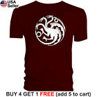 Game of Thrones T-Shirt House Targaryen Fire and Blood Mother Dragons GoT Dragon