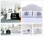 3D Cat & Dog Side Pillowcase Polyester Pillow Cover Hotel Pillow Shams Set White image
