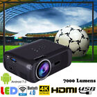 4K 3D Full HD Mini Projector LED Android 7.0 WiFi 1080P Home Theater HDMI VGA JJ