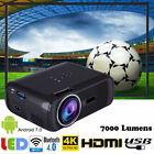 WiFi 4K 3D 1080P LED Projector Home Theater Android Bluetooth AV/TV/USB/HDMI JS