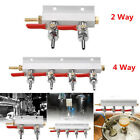 2 / 4 Way CO2 Gas Manifold Splitter Distributor Draft Beer with Check Valves 7mm