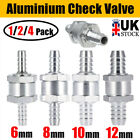 One Way Fuel Non Return Check Valve 6mm/8mm/10mm/12mm Petrol And Diesel Oil Uk