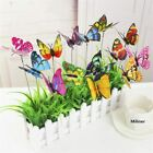 10PCS-Lot Artificial Butterfly Garden Decorations Simulation Butterfly Stakes Ya