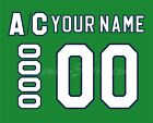 Hartford Whalers Customized Number Kit for 2018 Present Green Jersey