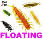 """New FLOATING 2"""" Soft Plastic Lures HELLGRAMMITE 5cm 3Pcs Ned Rig Rag Worm Bass"""