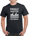 345 Paddle Faster mens T-shirt banjos funny 80s 90s movie horror scary creepy image