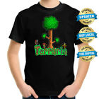Terraria Game Play Kids T-shirt, Children Computer Game Tee Size 2-16