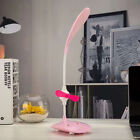 LED Eye-Caring Table Lamp Desk Lamp with Small Fan USB Reading Night Light sdf