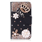 Glitter Rhinestones Leather Flip slots Wallet Case cover for Samsung Galaxy #9