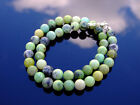 Chrysoprase Natural Gemstone Necklace 8mm Beaded Silver 16-30inch Healing Stone