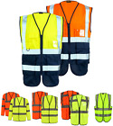 Hi Vis Viz Waistcoat Executive Visibility Top Unisex Reflective Safety Work Vest