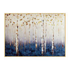 YA185 Hand-painted Abstract gold foil oil painting on canvas Forest Home decor