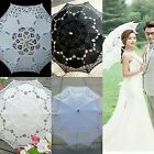 Kyпить Vintage Women Handmade Cotton Parasol Lace Umbrella Party Wedding Bridal DecorUS на еВаy.соm