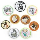 Cartoon Animal Badge Embroidered Iron on Owl Patch Cute Cat Cow Appliques emblem $1.99 USD on eBay