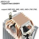4PIN CPU Cooler 115X 1366 2011 6 Heatpipe Dual-Tower Cooling High-Quality Fan