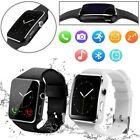 Curved Screen Bluetooth Smart Wrist Watch Phone Mate Black White For Android iOS