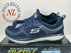 Skechers Burst With Air Cooled Memory Foam Men's Shoes ~ Navy ~ Various Sizes !
