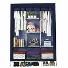 53''Portable Closet Storage Shelves Clothes Fabric Wardrobe Organizer Rack Shelf