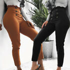 Women Skinny Pencil Pants High Waist Stretch Slim Fit Bodycon Jegging Trousers C