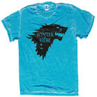WINTER IS COMING STARK ACID WASH T-SHIRT HIGH QUALITY GAME OF THRONES SIZE S-3XL image