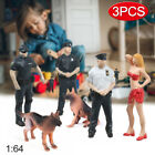 1/64 US Police Figure Scene Model Set w/ Female