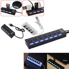 3/4/7-Port USB 2.0 Hub w/ High Speed Adapter ON/OFF Switch for Laptop PC NEW EN