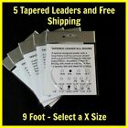 Cortland Dozen FairPlay 6X Tapered Leaders 7 1//2 feet Knotless FREE SHIPPING