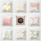 Soft Sofa Waist Home Decor Pillow Cases Cushion Cover Winter Warm Gold Shining image