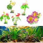 Frog Ornament Water Lily Fish Tank Decor Artificial Lotus Floating Flower