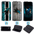 San Jose Sharks Leather Wallet Purse Zip Around Card Phone Holder $16.99 USD on eBay