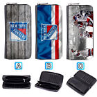 New York Rangers Leather Wallet Purse Zip Around Card Phone Holder $17.99 USD on eBay