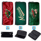 Minnesota Wild Leather Wallet Purse Zip Around Card Phone Holder $15.99 USD on eBay