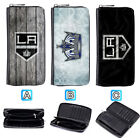 Los Angeles Kings Leather Wallet Purse Zip Around Card Phone Holder $15.99 USD on eBay