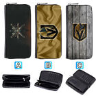 Vegas Golden Knights Leather Wallet Purse Zip Around Card Phone Holder $16.99 USD on eBay