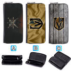 Vegas Golden Knights Leather Wallet Purse Zip Around Card Phone Holder $15.99 USD on eBay