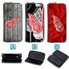 Detroit Red Wings Leather Wallet Purse Zip Around Card Phone Holder $17.99 USD on eBay