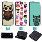Many Owl Lovely Leather Wallet Purse Zip Around Card Phone Holder