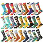 Mens Cotton Socks Novelty Animal Fruit Colorful Funny Casual Dress Wedding Socks