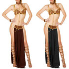 Sexy Adult Women Princess Leia Slave Miss Manners Outfit Fancy Dress Costume US $15.94 USD on eBay
