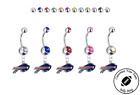 Buffalo Bills Silver Belly Button Navel Ring - Customize Gem Color - NEW $9.99 USD on eBay