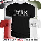 Game of Thrones T-Shirt I Drink and I Know Things GoT Tyrion Lannister Party Bar image