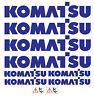 More images of KOMATSU  MINI DIGGER DECALS STICKERS